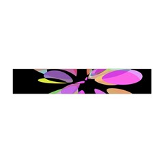Pink Abstract Flower Flano Scarf (mini)