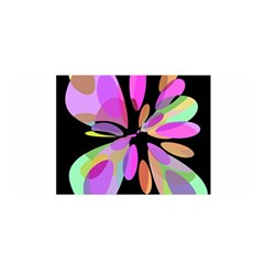 Pink abstract flower Satin Wrap