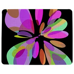 Pink abstract flower Jigsaw Puzzle Photo Stand (Rectangular)