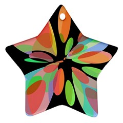 Colorful abstract flower Ornament (Star)