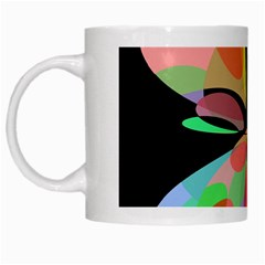 Colorful abstract flower White Mugs
