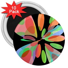 Colorful abstract flower 3  Magnets (10 pack)