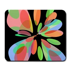 Colorful abstract flower Large Mousepads