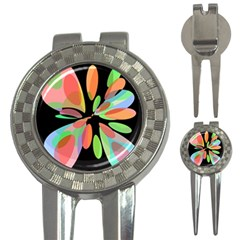 Colorful abstract flower 3-in-1 Golf Divots