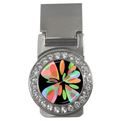 Colorful abstract flower Money Clips (CZ)