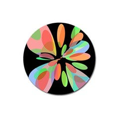 Colorful abstract flower Magnet 3  (Round)