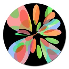 Colorful abstract flower Magnet 5  (Round)