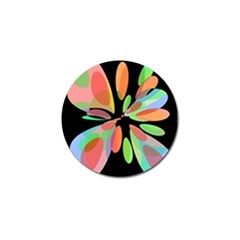 Colorful abstract flower Golf Ball Marker