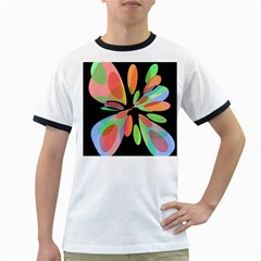 Colorful abstract flower Ringer T-Shirts