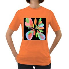 Colorful abstract flower Women s Dark T-Shirt