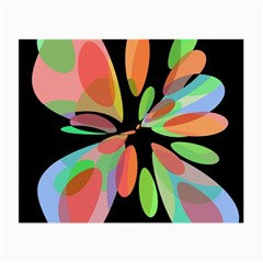 Colorful abstract flower Small Glasses Cloth