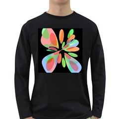 Colorful abstract flower Long Sleeve Dark T-Shirts