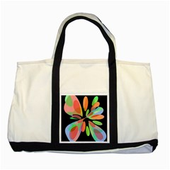 Colorful abstract flower Two Tone Tote Bag