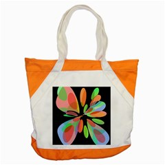 Colorful abstract flower Accent Tote Bag