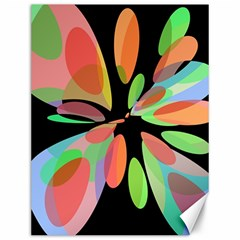 Colorful abstract flower Canvas 12  x 16