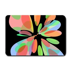 Colorful abstract flower Small Doormat