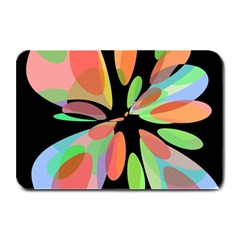 Colorful abstract flower Plate Mats