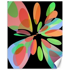 Colorful abstract flower Canvas 11  x 14