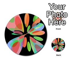 Colorful abstract flower Multi-purpose Cards (Round)