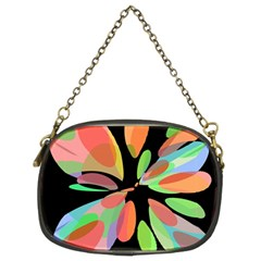 Colorful abstract flower Chain Purses (Two Sides)