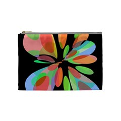 Colorful abstract flower Cosmetic Bag (Medium)