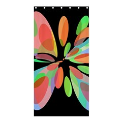 Colorful abstract flower Shower Curtain 36  x 72  (Stall)