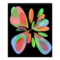 Colorful abstract flower Shower Curtain 60  x 72  (Medium)