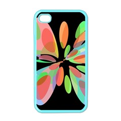 Colorful abstract flower Apple iPhone 4 Case (Color)