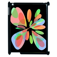 Colorful abstract flower Apple iPad 2 Case (Black)