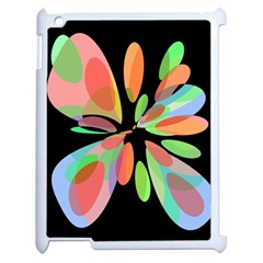 Colorful abstract flower Apple iPad 2 Case (White)