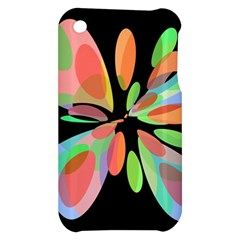 Colorful abstract flower Apple iPhone 3G/3GS Hardshell Case
