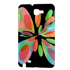 Colorful abstract flower Samsung Galaxy Note 1 Hardshell Case