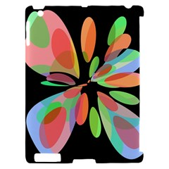 Colorful abstract flower Apple iPad 2 Hardshell Case (Compatible with Smart Cover)