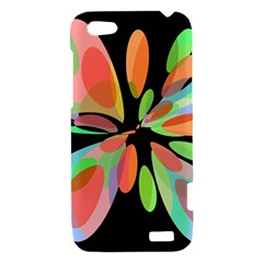 Colorful abstract flower HTC One V Hardshell Case