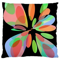 Colorful abstract flower Large Cushion Case (Two Sides)