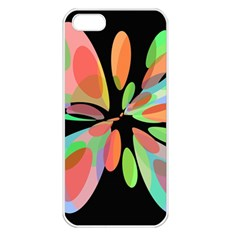 Colorful abstract flower Apple iPhone 5 Seamless Case (White)