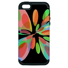 Colorful abstract flower Apple iPhone 5 Hardshell Case (PC+Silicone)