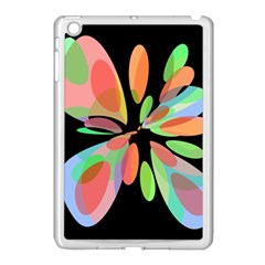 Colorful abstract flower Apple iPad Mini Case (White)
