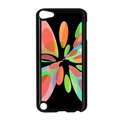 Colorful abstract flower Apple iPod Touch 5 Case (Black)