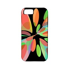 Colorful abstract flower Apple iPhone 5 Classic Hardshell Case (PC+Silicone)