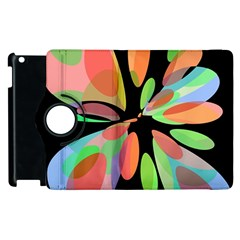 Colorful abstract flower Apple iPad 2 Flip 360 Case