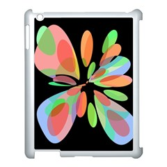 Colorful abstract flower Apple iPad 3/4 Case (White)