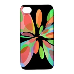Colorful abstract flower Apple iPhone 4/4S Hardshell Case with Stand
