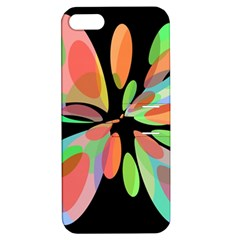 Colorful abstract flower Apple iPhone 5 Hardshell Case with Stand