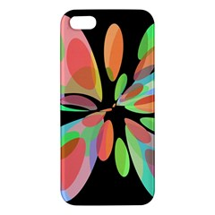 Colorful abstract flower Apple iPhone 5 Premium Hardshell Case