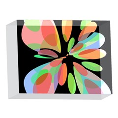 Colorful abstract flower 5 x 7  Acrylic Photo Blocks