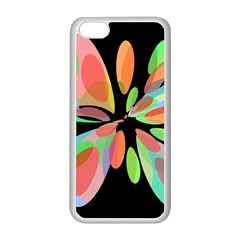 Colorful abstract flower Apple iPhone 5C Seamless Case (White)