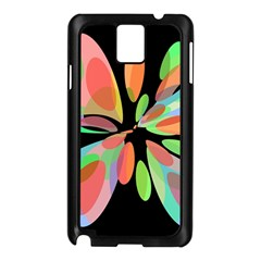 Colorful abstract flower Samsung Galaxy Note 3 N9005 Case (Black)