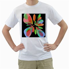 Colorful abstract flower Men s T-Shirt (White)