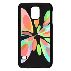 Colorful abstract flower Samsung Galaxy S5 Case (Black)